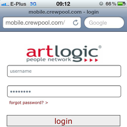 Mobile Crewpool von Artlogic